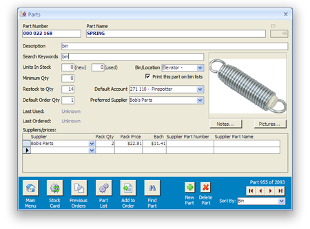 Parts Tracker Parts Inventory And Facilities Maintenance